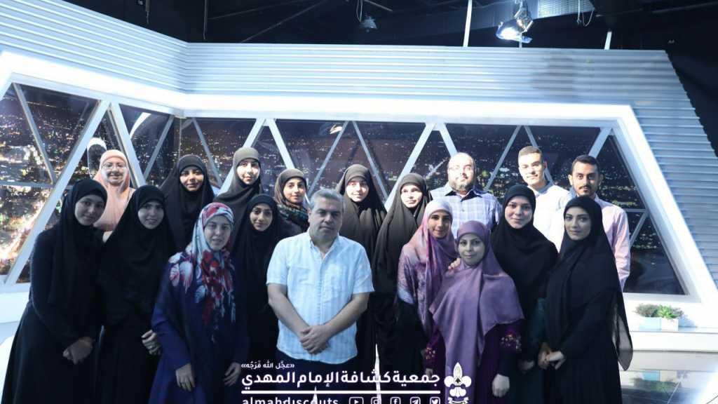 طلاب دبلوما التقديم التلفزيوني ضيوف استديوهات سات لينك في بيروت