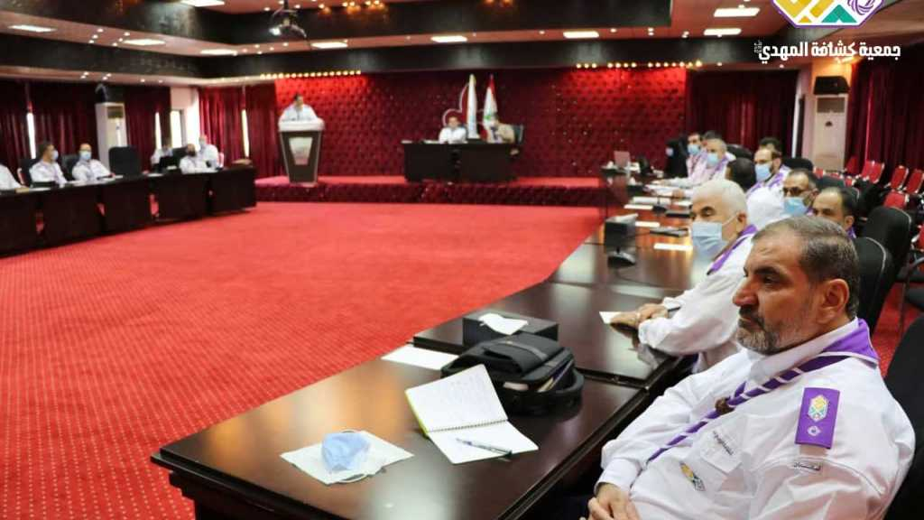 لقاء عام لقيادة جمعية كشافة الإمام المهدي (عجّل الله فرجه) برئاسة الشيخ نزيه فياض